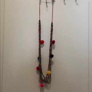 Francesca's Pom Necklace